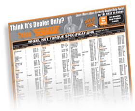 Free Dorman Wheel Nut Torque Spec Poster