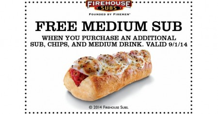 photo about Firehouse Subs Printable Menu titled Cost-free Medium Sub at Firehouse Subs (9/1 Merely)