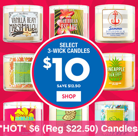 Hot 6 Reg 22 50 3 Wick Candles At Bath Body Works