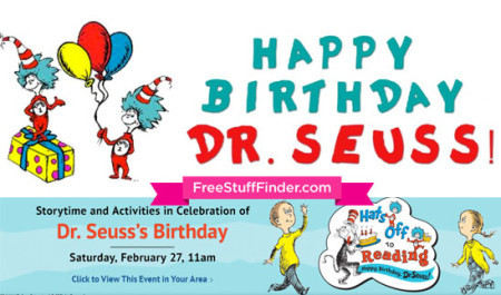 Free Dr. Seuss's Storytime at Barnes & Noble (2/27 Only)