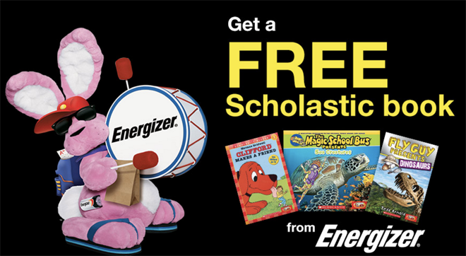 FREE Scholastic Book with Energizer Battery Purchase at Dollar General