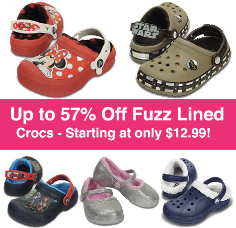 *HOT* Up to 57% Off Fuzz Lined Crocs (Starting at $12.99!)