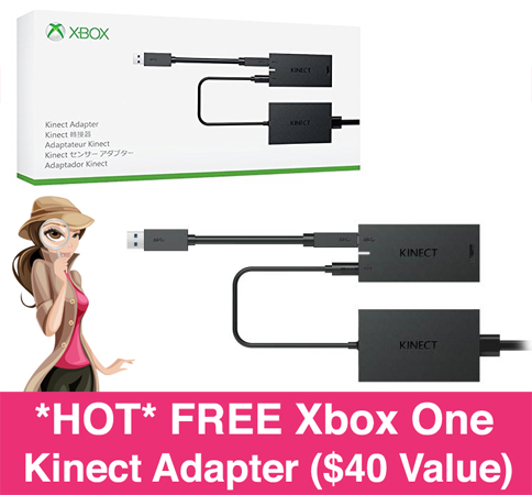 FREE Xbox One Kinect Adapter ($40 Value)