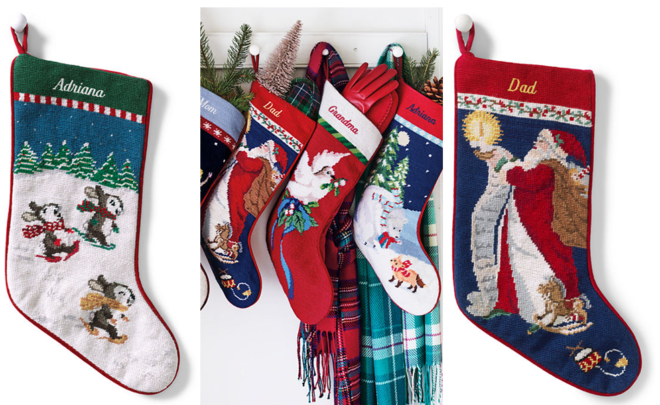 Lands End Christmas Stockings.14 75 Reg 30 Lands End Needlepoint Stocking W
