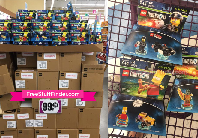 HOT 099 Reg 14 LEGO Dimensions Fun Packs At 99 Cent