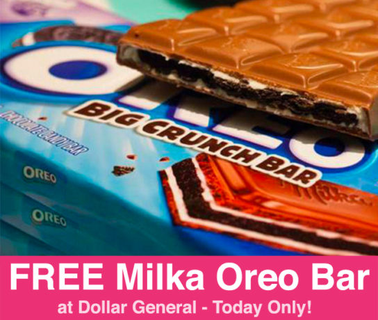 FREE Milka Oreo Candy Bar at Dollar General (Today Only)
