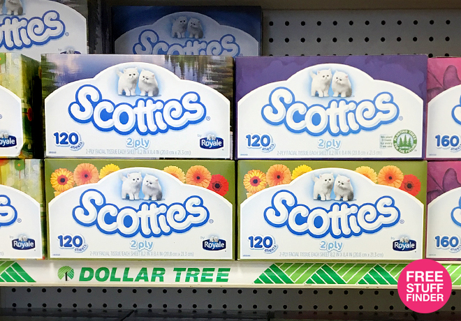 $0.83 Scotties Facial Tissue at Dollar Tree