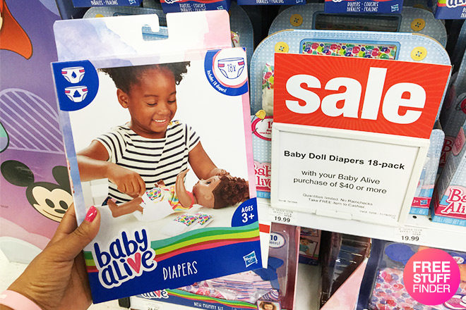 photo about Alive Printable Coupon named Cost-free Youngster Alive Dolls Diaper 18-Pack with any $40 Boy or girl Alive