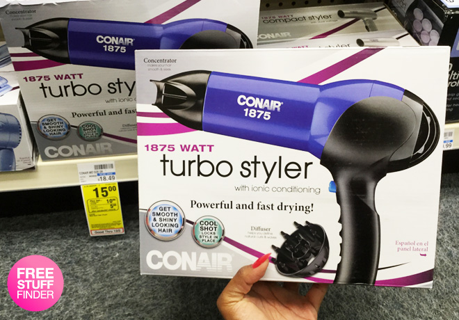 photo relating to Conair Printable Coupons named Sizzling* $5 (Reg $21) Conair Hair Appliances at CVS (NO Discount coupons