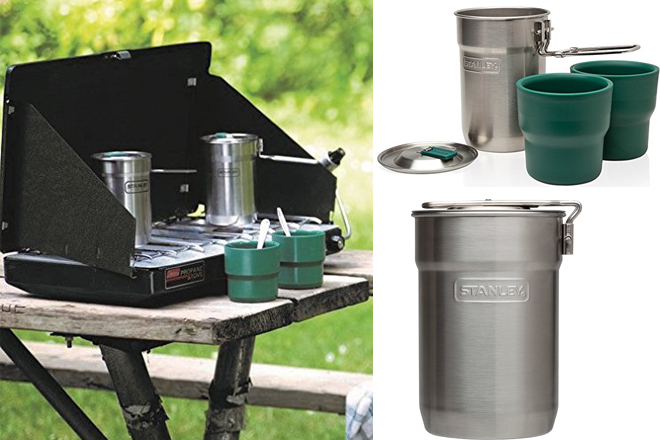 Camping Cookware Stanley Adventure Camp Cook Set 24oz Stainless Steel  Outdoor Sports