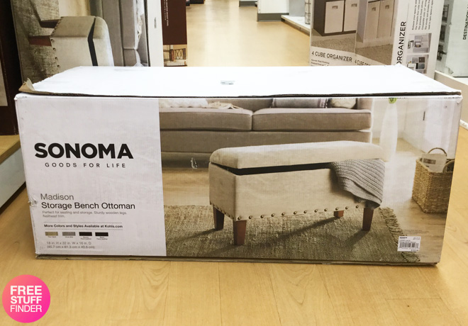 Strange Kohls Sonoma Storage Bench Ottoman Only 59 49 10 Ncnpc Chair Design For Home Ncnpcorg