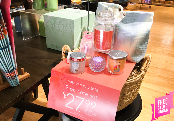 Yankee Candle: $100 Value 9-Piece Mother's Day Tote Only $27.99 with Any $50 Purchase