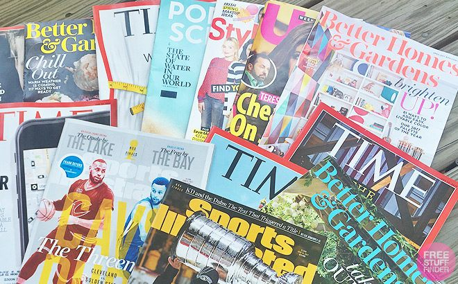 THREE FREE Magazine Subscriptions of Your Choice (Digital & Print Options!)