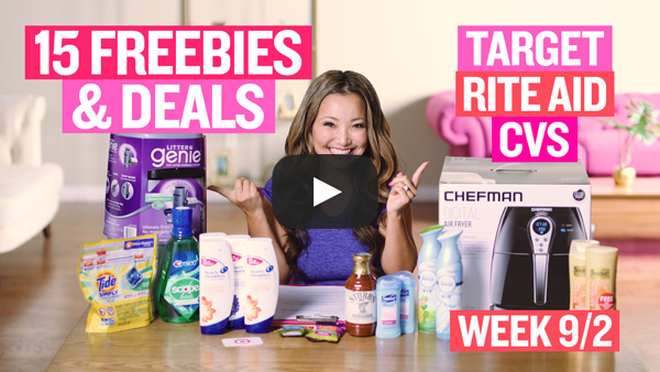 VIDEO: 15 FREEBIES & Deals at Target, Rite Aid & CVS This Week (9/2 - 9/8)