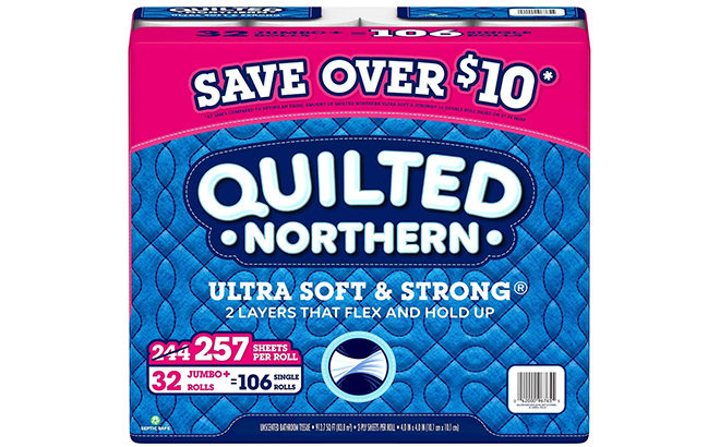 Quilted Northern Toilet Paper 32-Count Jumbo Rolls JUST $16.96 ( Only 53¢ per Roll!)