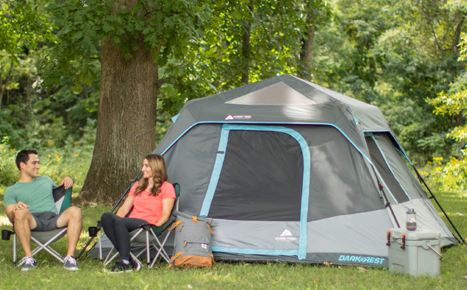 Ozark Trail 6-Person Instant Cabin Tent for ONLY $69 + FREE