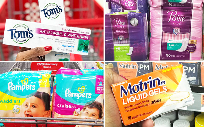 Today's Best 5 Deals: FREE Makeup, Poise Pads, $3 Pampers Diapers, & 57¢ Toothpaste