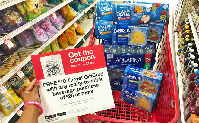 FREE $10 Gift Card with $25 Beverage Purchase This Week at Target