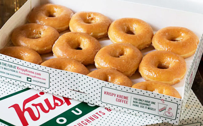 FREE Krispy Kreme Dozen Glazed Doughnuts with Dozen Purchase (NEW Members)