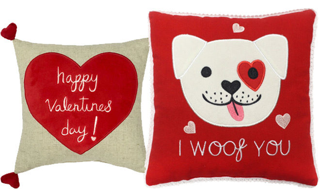 Valentine's Day Throw Pillows Starting at ONLY $6.99 + FREE Shipping at Kohl's