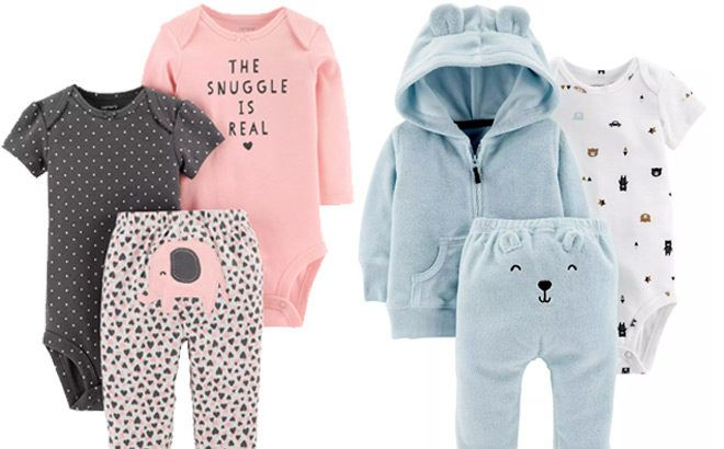 Baby 3-Piece Sets Up to 60% Off at Carter's - Starting at ONLY $10!
