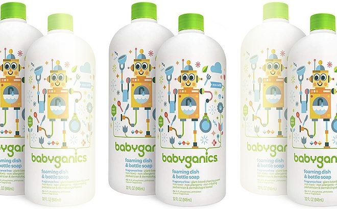 Babyganics Foaming Dish & Bottle Soap for JUST $7.94 + FREE Shipping ($3.97 Each)