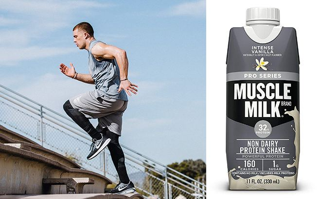 Muscle Milk Pro Series Protein Shake 12-Pack ONLY $12 + FREE Shipping on Amazon