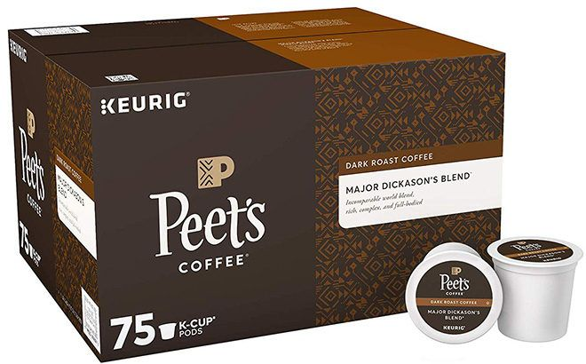 Amazon Prime: Peet's Coffee K-Cups 75 Count ONLY $28 (Reg $35) + FREE Shipping