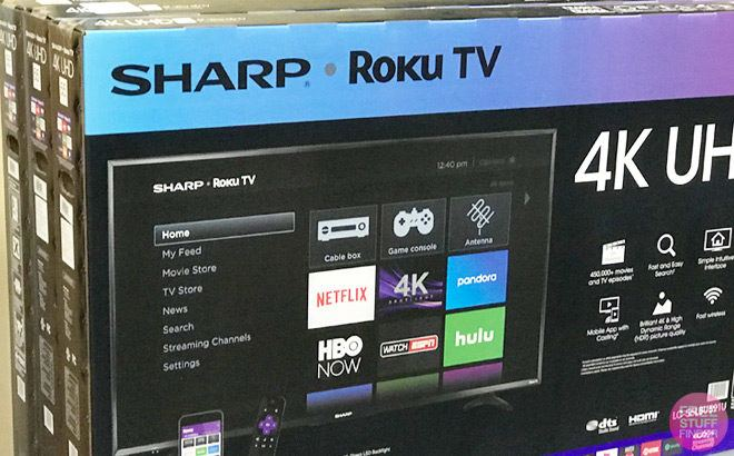 Sharp 50-Inch Smart Roku TV JUST $279 + FREE Shipping (Reg $380) - Today Only!
