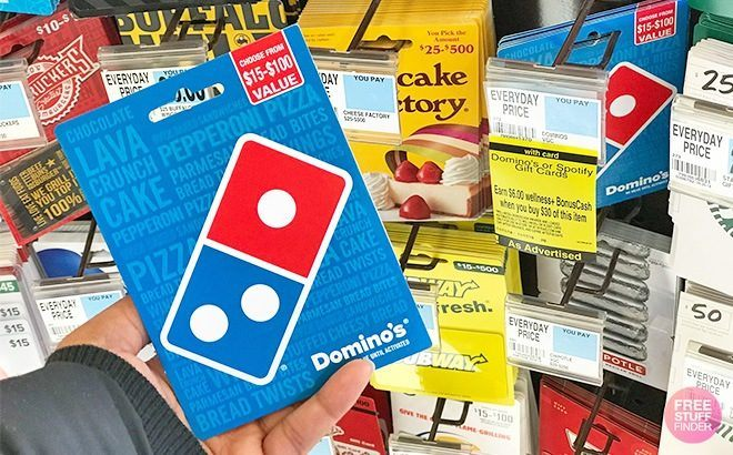 Domino's or Papa Johns Gift Card ONLY $20 (Regulary $25) at Rite Aid