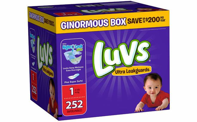 Sam's Club: Luvs Ginormous Box Diapers ONLY $20.98 (8¢ per Diaper!) + FREE Shipping