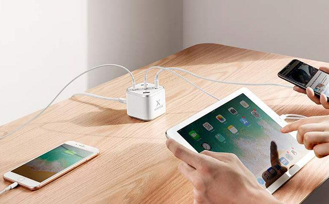Quick-Charge Desktop Charging Station Grey JUST $18.99 (Reg $26) at Amazon