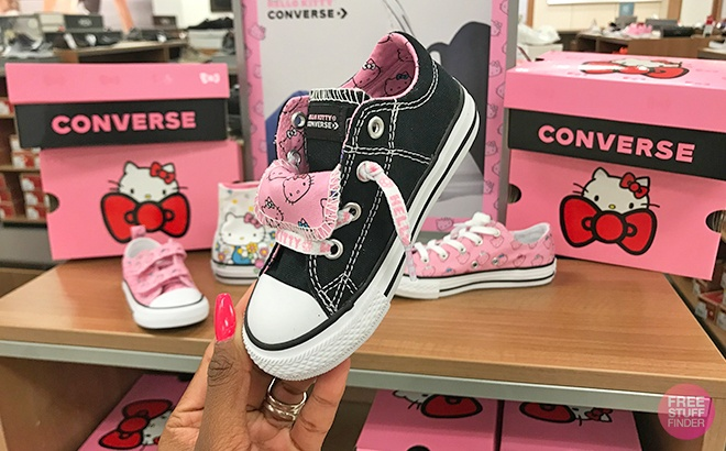 1b7a43673f77 (it s like getting the shoes for ONLY  39.99 after Kohl s Cash). Girls   Converse Hello Kitty Chuck Taylor All Star High Top ...