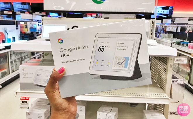 Google Home Hub Smart Display ONLY $73.95 + FREE Shipping (Reg $130) - Best Price!