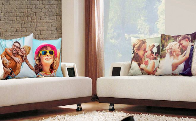 Custom 18x18 Photo Pillow for JUST $14.99 (Regularly $40) - Makes A Great Gift!