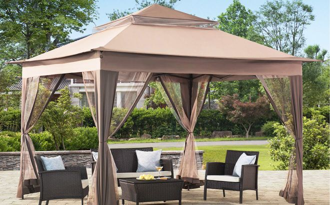 Sunjoy Portia Beige Gazebo ONLY $119.99 + FREE Shipping at Lowe's – Today Only!