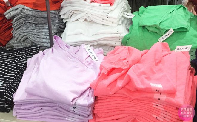 Old Navy Tees for the Family JUST $4 – $5 (Regularly $17) – Today April 16th Only!