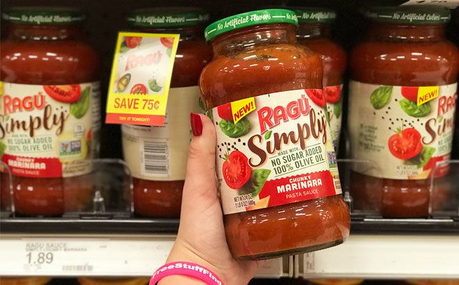 Ragu Simply Pasta Sauce for ONLY 17¢ at Target (Reg $1.89) - JUST Use Your Phone!