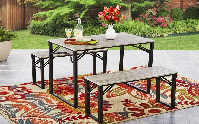 Mainstays Picnic Table Set for ONLY $159.97 + FREE Shipping at Walmart (Reg $229)