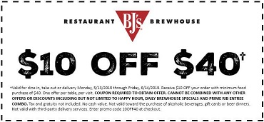 image regarding Bjs Printable Coupons referred to as Warm* $10 Off $40 BJs Food stuff Order