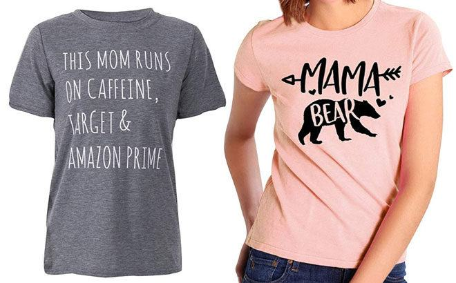 Mother's Day Printed Tees Starting at $11.99 on Amazon