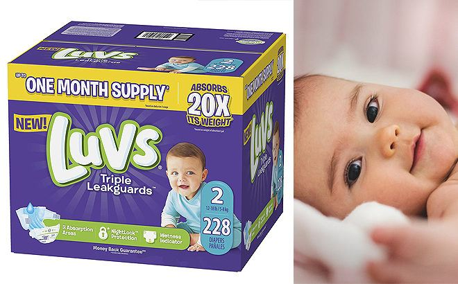 Amazon: Luvs Ultra Leakguards Baby Diapers 228-Count JUST $19.93 - Only 9¢ Per Diaper!
