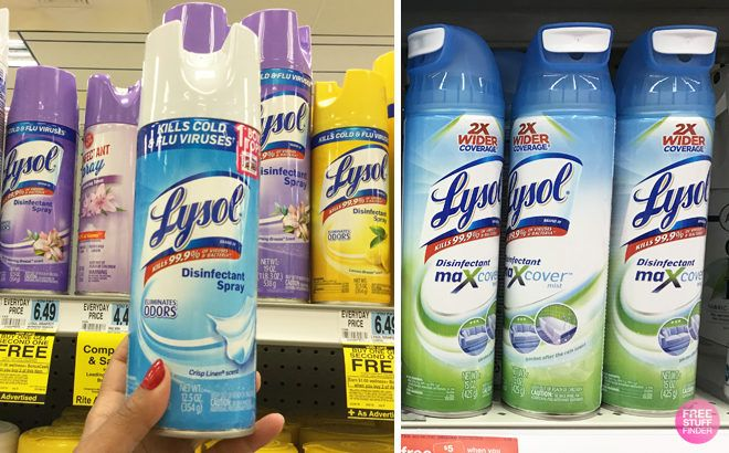 Lysol 3-Count Disinfectant Spray + Max Cover ONLY $11.19 + FREE Shipping at Amazon