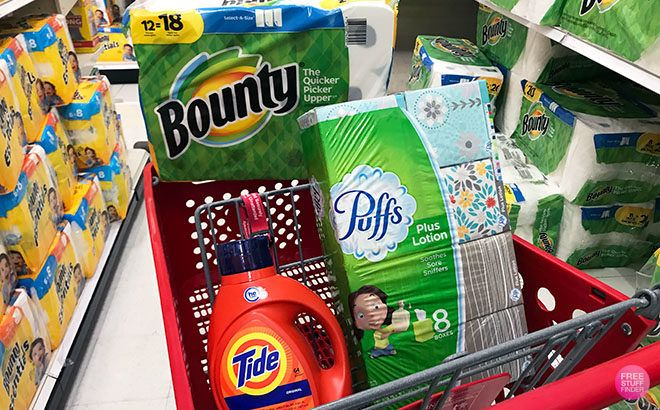 Bounty, Tide & Puffs Packs ONLY $7.19 Each at Target - Great Time to Stock Up!