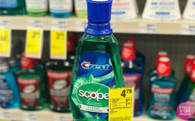Crest Scope Mouthwash 1L Bottle ONLY 79¢ at CVS (Reg $5.29) - Just Use Your Phone!