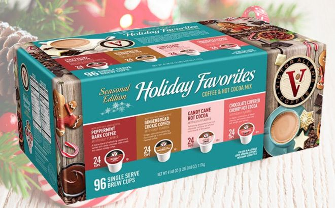 Victor Allen's 96-Ct Holiday Favorites K-Cups JUST $14.99 (Only 16¢ per K-Cup)