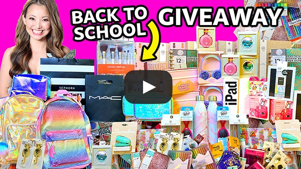 BIGGEST Back to School GIVEAWAY 2019 #2 (Win FREE iPad, School Supplies, Makeup 💄)