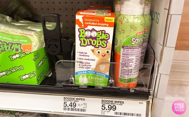 Boogie Saline Drops Twin Pack JUST $1.92 at Target (Reg $5.49) – ONLY 96¢ per Bottle!