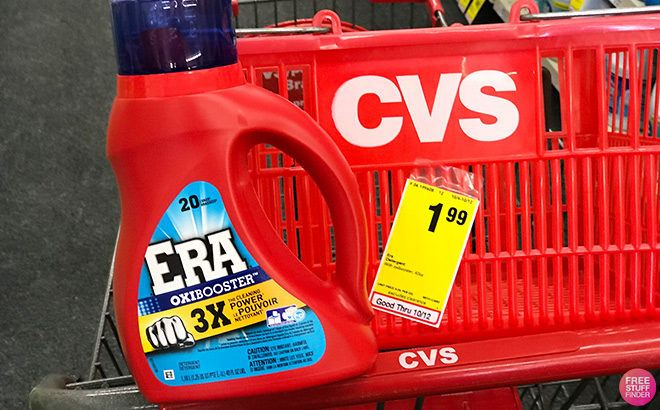 Era Laundry Detergent 25-Loads JUST $1.49 at CVS (Regularly $4) - Print Coupon Now!