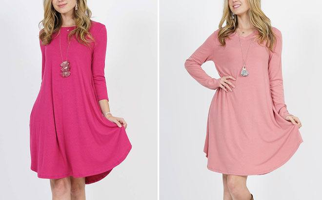 2-Pocket Tunic Dresses for ONLY $13.99 at Zulily (Regularly $55) - So Many Colors!